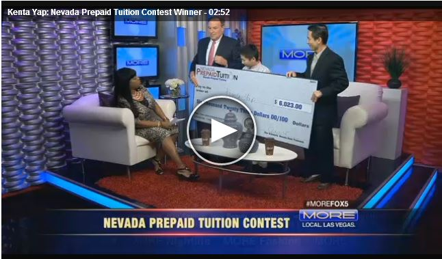 Southern Nevada Winner of Prepaid Tuition Contest