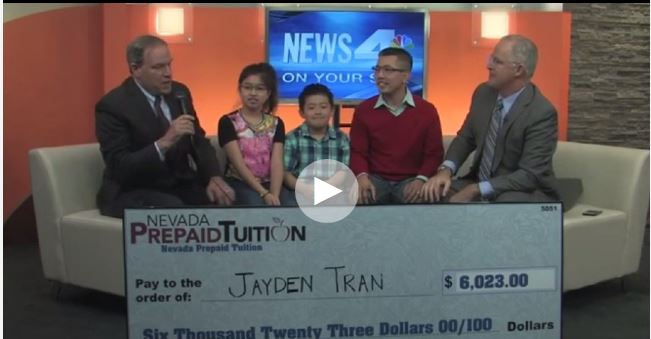 Northern Nevada Winner of Prepaid Tuition Contest